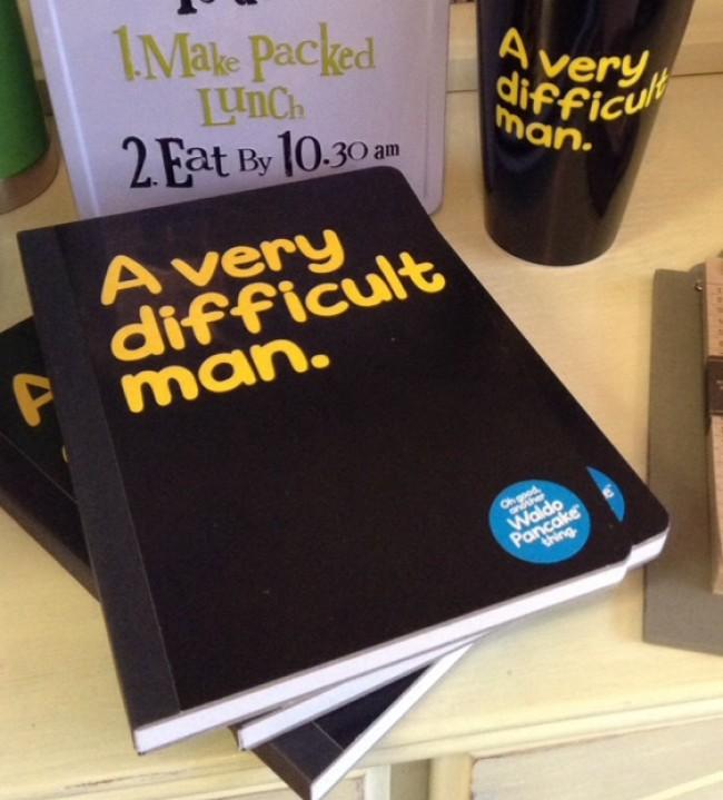 Waldo Pancake Difficult Man A5 Notebook